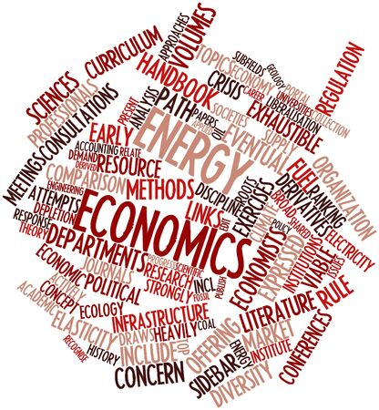 Abstract word cloud for Energy economics with related tags and terms Stock Photo - 16530841