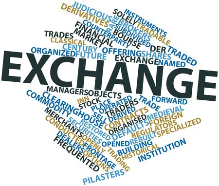 foreign: Abstract word cloud for Exchange with related tags and terms