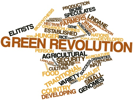 widespread: Abstract word cloud for Green Revolution with related tags and terms