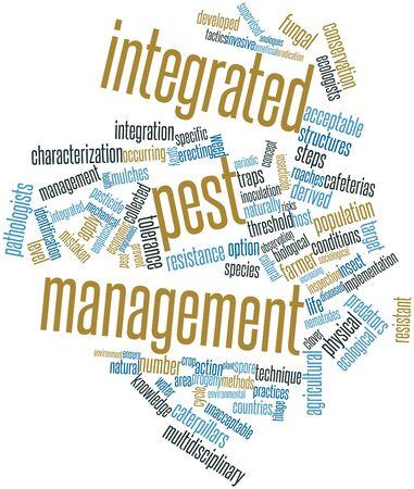 labranza: Nube palabra abstracta para la gestión integrada de plagas con las etiquetas y términos relacionados Foto de archivo