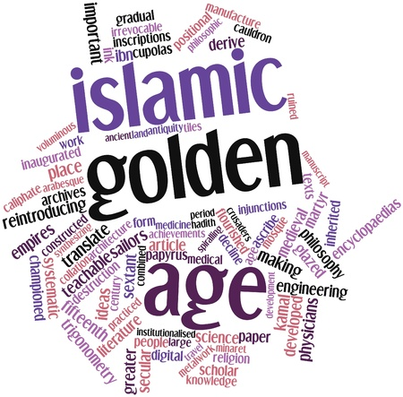 practiced: Abstract word cloud for Islamic Golden Age with related tags and terms