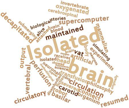 carotid: Abstract word cloud for Isolated brain with related tags and terms