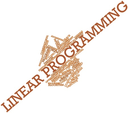 primal: Abstract word cloud for Linear programming with related tags and terms Stock Photo