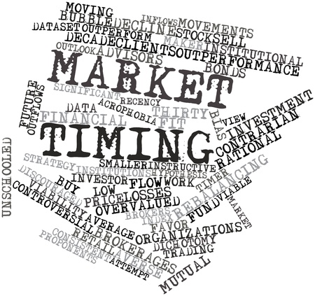 Abstract word cloud for Market timing with related tags and terms photo