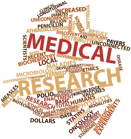 Abstract word cloud for Medical research with related tags and terms Stock Photo - 16530074