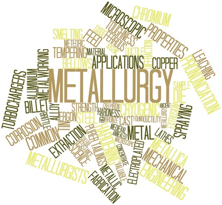 arsenic: Abstract word cloud for Metallurgy with related tags and terms Stock Photo
