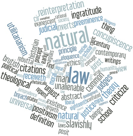 brutish: Abstract word cloud for Natural law with related tags and terms