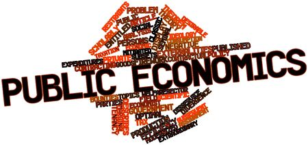 credited: Abstract word cloud for Public economics with related tags and terms