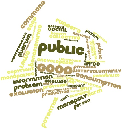 Abstract word cloud for Public good with related tags and terms Stock Photo - 16527434