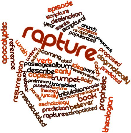 cited: Abstract word cloud for Rapture with related tags and terms