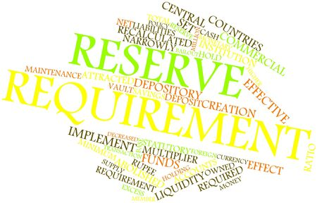 proceeds: Abstract word cloud for Reserve requirement with related tags and terms