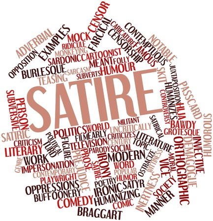 Abstract word cloud for Satire with related tags and terms Stock Photo - 16530694