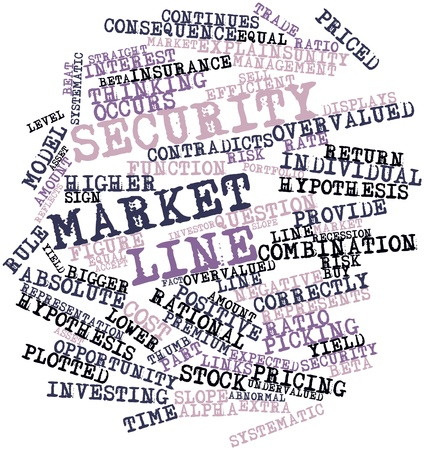equal opportunity: Abstract word cloud for Security market line with related tags and terms