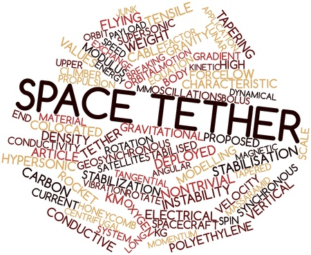 oscillations: Abstract word cloud for Space tether with related tags and terms