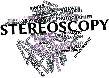 diurnal: Abstract word cloud for Stereoscopy with related tags and terms Stock Photo