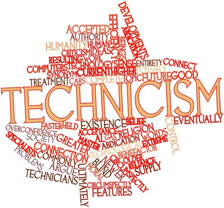 Abstract word cloud for Technicism with related tags and terms Stock Photo - 16530479