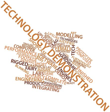 launched: Abstract word cloud for Technology demonstration with related tags and terms