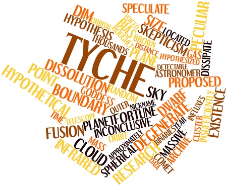 Abstract word cloud for Tyche with related tags and terms Stock Photo - 16529680
