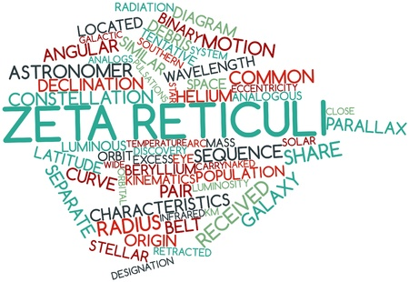 Abstract word cloud for Zeta Reticuli with related tags and terms Stock Photo - 16527718