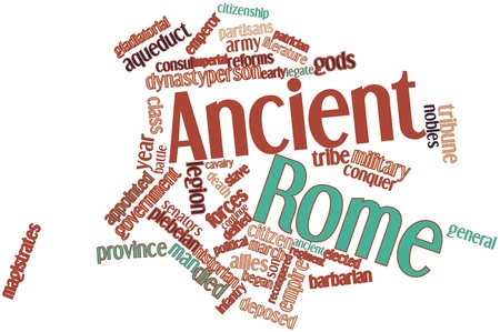 Abstract word cloud for Ancient Rome with related tags and terms Stock Photo - 16559323