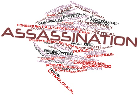 Abstract word cloud for Assassination with related tags and terms Stock Photo - 16559335