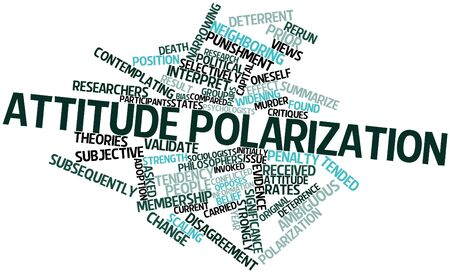 neighboring: Abstract word cloud for Attitude polarization with related tags and terms