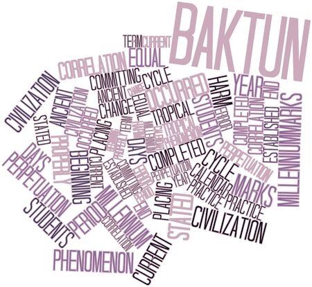 occurred: Abstract word cloud for Baktun with related tags and terms
