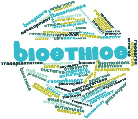 Abstract word cloud for Bioethics with related tags and terms photo