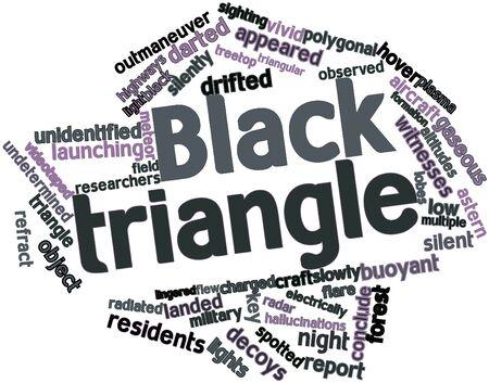 despacio: Nube palabra abstracta para Triángulo Negro con las etiquetas y términos relacionados