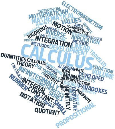 calculus: Abstract word cloud for Calculus with related tags and terms