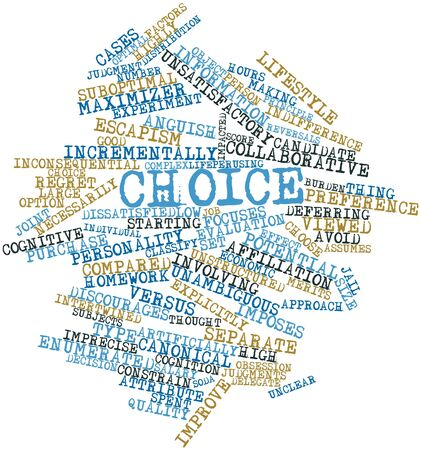 unclear: Abstract word cloud for Choice with related tags and terms