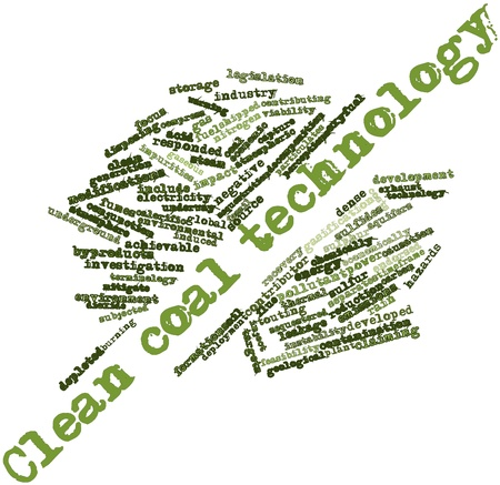 causation: Abstract word cloud for Clean coal technology with related tags and terms