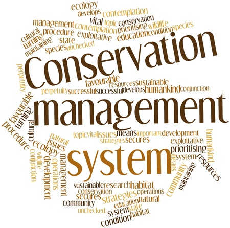 unchecked: Abstract word cloud for Conservation management system with related tags and terms