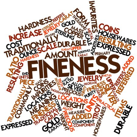 Abstract word cloud for Fineness with related tags and terms