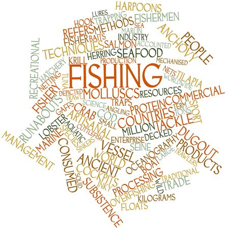 krill: Abstract word cloud for Fishing with related tags and terms