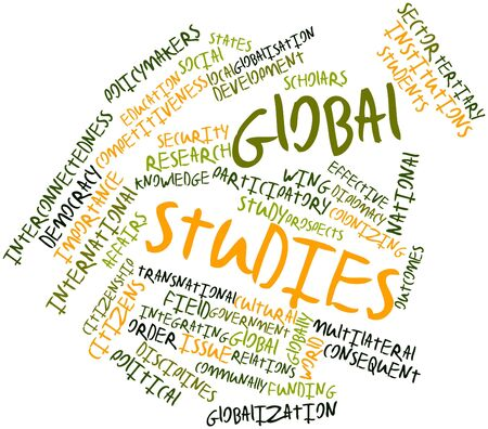 Abstract word cloud for Global studies with related tags and terms Stock Photo - 16559726