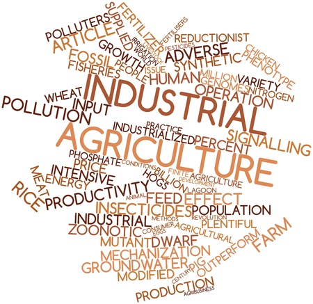 cited: Abstract word cloud for Industrial agriculture with related tags and terms Stock Photo