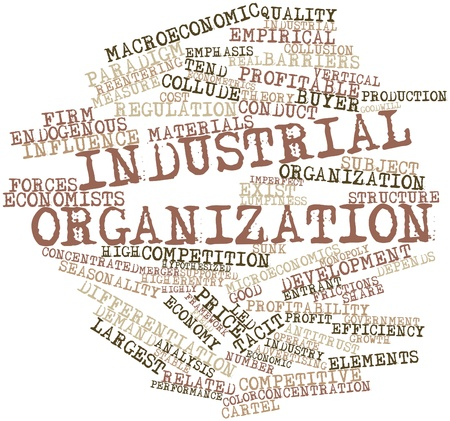 seasonality: Abstract word cloud for Industrial organization with related tags and terms Stock Photo