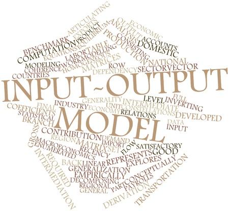 buen trato: Nube palabra abstracta para el modelo de insumo-producto con etiquetas y términos relacionados