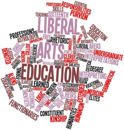 humanismo: Nube de palabras abstracto para la educación de artes liberales con las etiquetas y términos relacionados