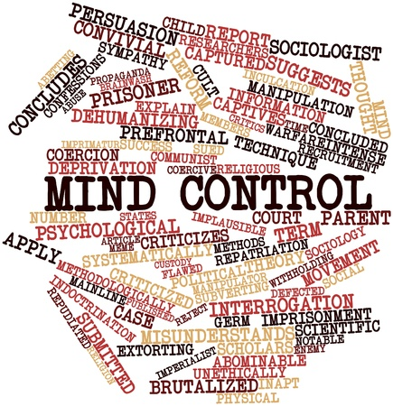 imprisonment: Abstract word cloud for Mind control with related tags and terms
