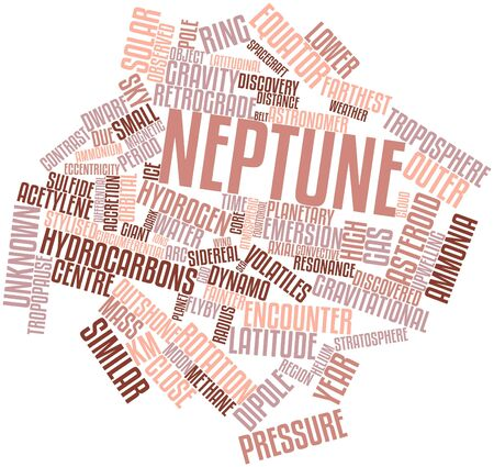 Abstract word cloud for Neptune with related tags and terms Stock Photo - 16560145