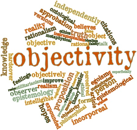 epistemology: Abstract word cloud for Objectivity with related tags and terms