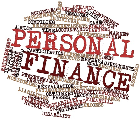 Abstract word cloud for Personal finance with related tags and terms