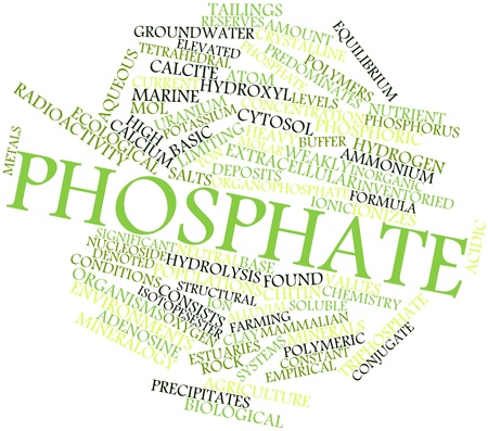 mol: Abstract word cloud for Phosphate with related tags and terms
