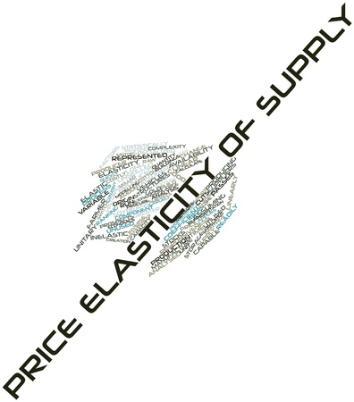 elasticity: Abstract word cloud for Price elasticity of supply with related tags and terms