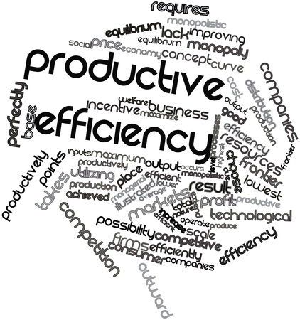 productive: Abstract word cloud for Productive efficiency with related tags and terms