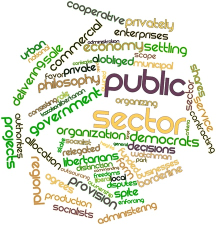Abstract word cloud for Public sector with related tags and terms Stock Photo - 16560134