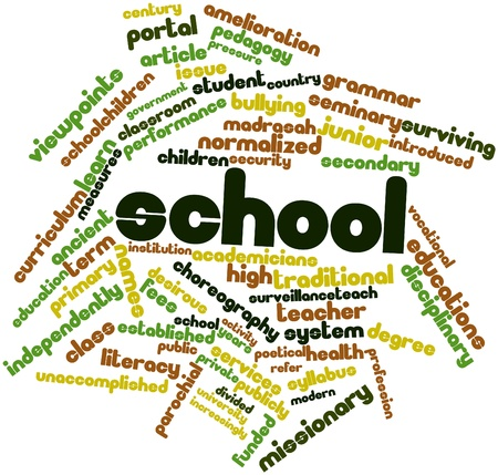 surviving: Abstract word cloud for School with related tags and terms