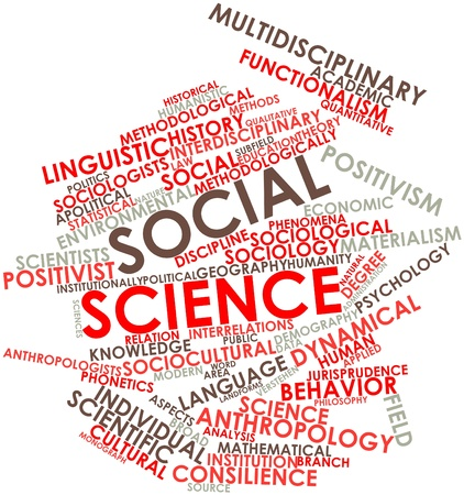sciences: Abstract word cloud for Social science with related tags and terms Stock Photo